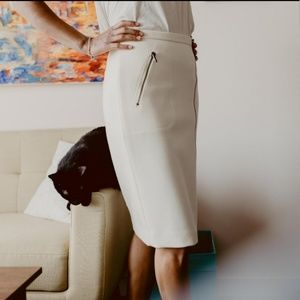 JCREW White woolen skirt